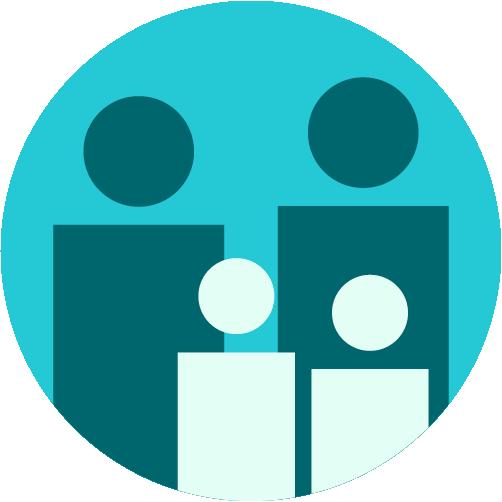 Icon Eltern mit Link (Verweis) auf Eltern-Startseite / Landing-Page