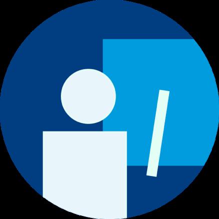 Icon Lehrer:innen mit Link (Verweis) auf Lehrende-Startseite / Landing-Page