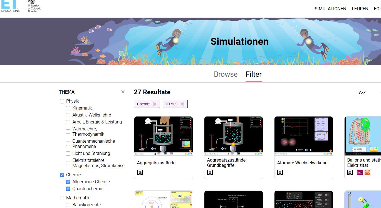Cover: PhET-Simulationen