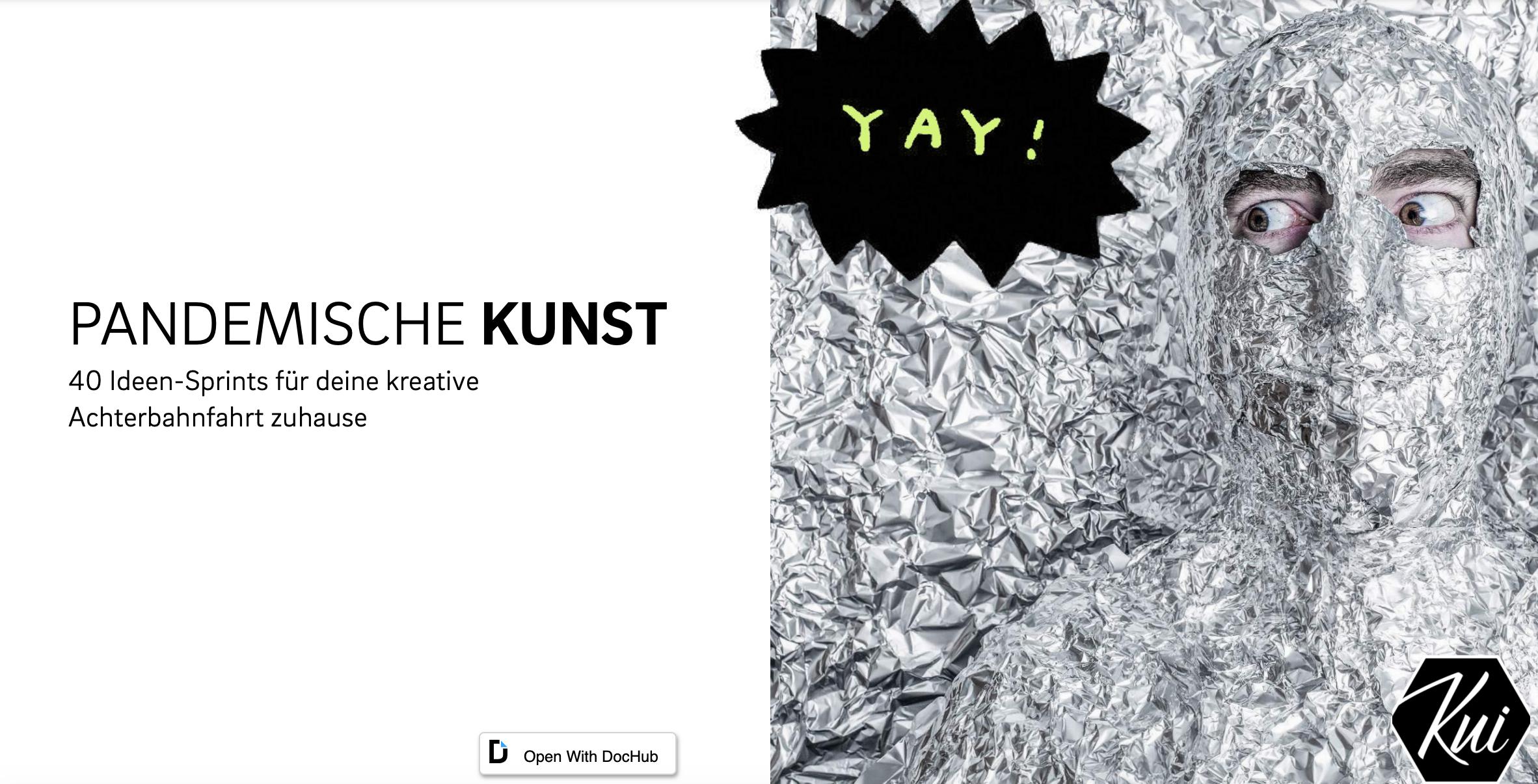 Cover: KUI sammelt 40 Ideen für den Kunstunterricht, die im Onlineunterricht umgesetzt werden können. Inspirierend!
