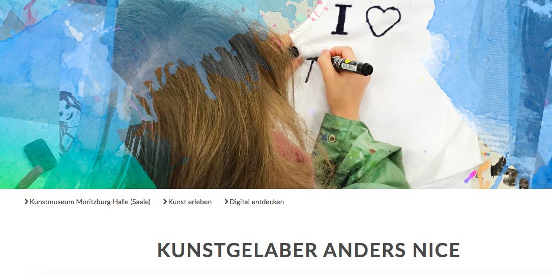 Cover: Kunstgelaber anders nice - Podcast vom Kunstmuseum Moritzburg Halle