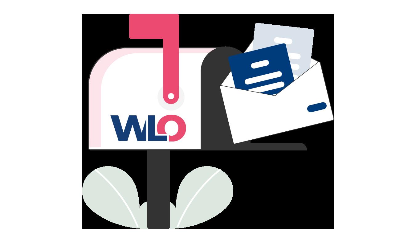 Briefkasten mit Newsletter